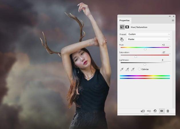 horns hue saturation