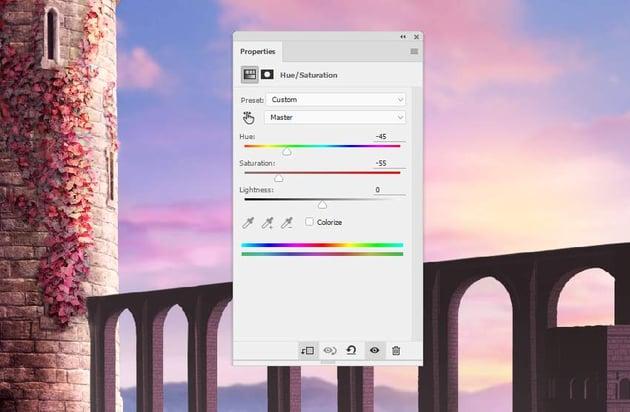 bridge hue saturation