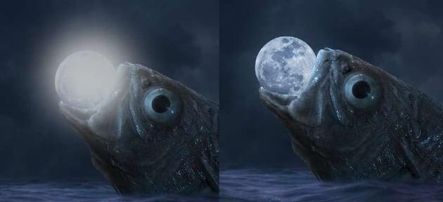 moon glowing light