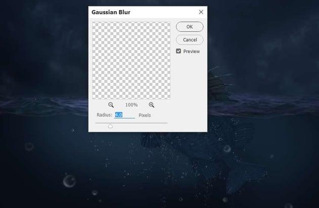 big bubbles gaussian blur