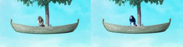 boat photomanipulation -  model DB