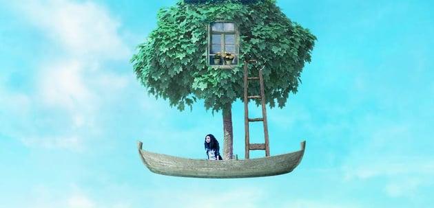 boat photomanipulation - ladder masking