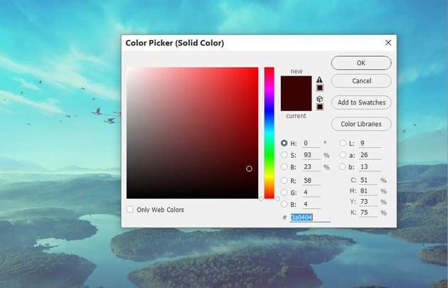 boat photomanipulation - whole scene color fill