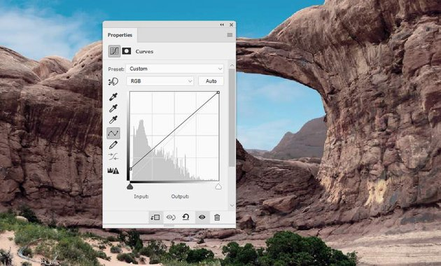 Photoshop Adjustment Layers - rock curves
