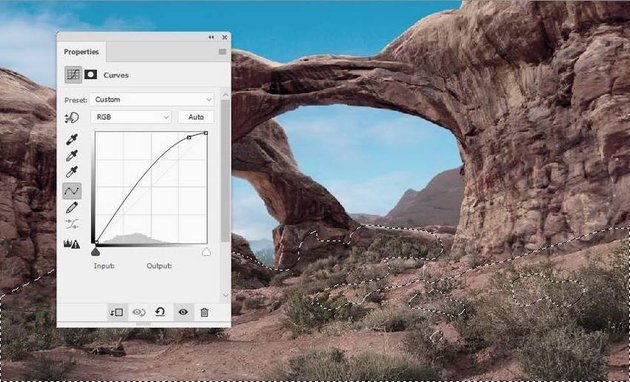 Photoshop Adjustment Layers - ground curves 1