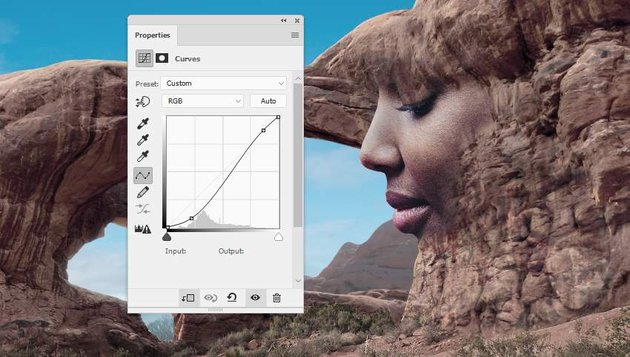 Photoshop Adjustment Layers - face curves 1