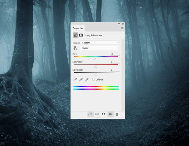 fantasy digital art - forest hue saturation