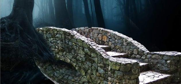 fantasy digital art - bridge reflection