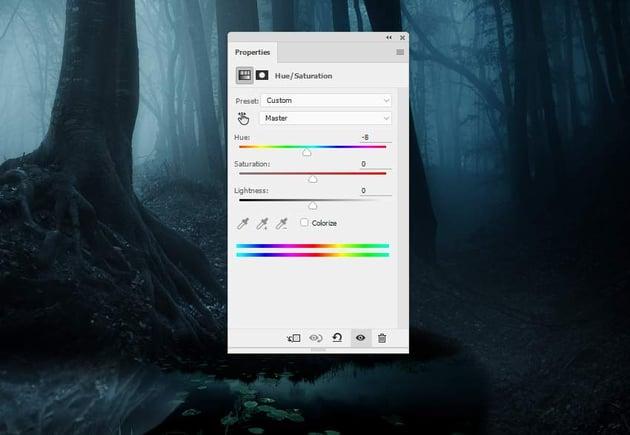 fantasy digital art  - tree reflection hue saturation