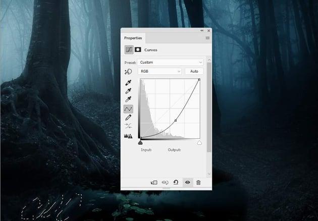 fantasy digital art - tree reflection curves