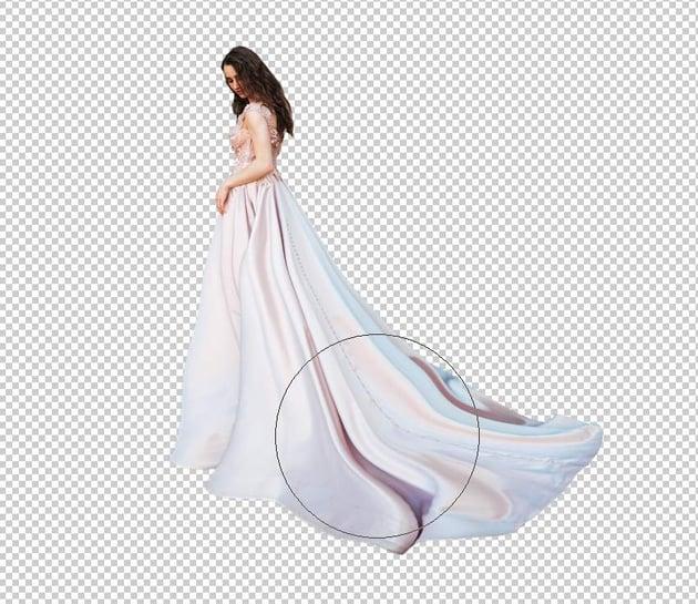 fantasy digital art  - model dress liquifying