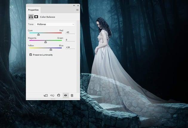 fantasy digital art  - model color balance