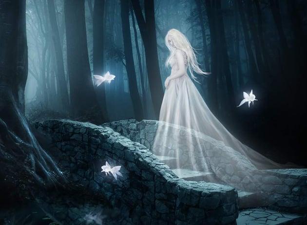 fantasy digital art - model glow 1 masking