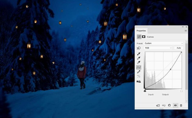 photo manipulation - lanterns curves