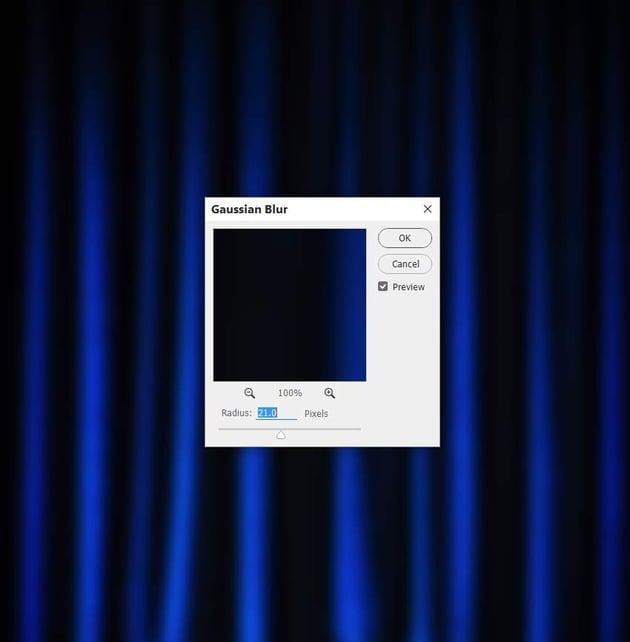 photo effect - curtain gaussian blur