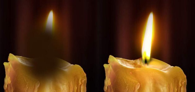 photo effect - candle glow 2