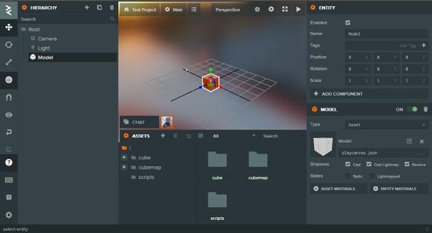 Screenshot of PlayCanvass editor