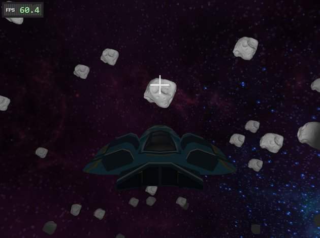 In-game screenshot of space shooter