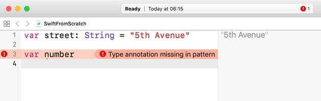 Type Annotation Missing In Pattern