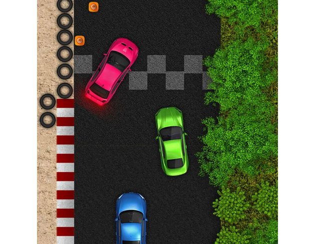 Top Down Racing Game Creation Kit cars and track