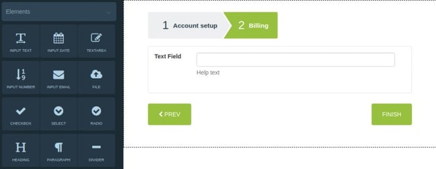 jQuery Step Wizard Example