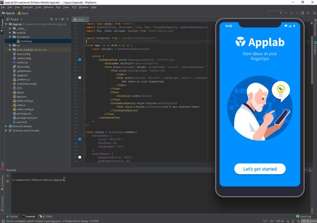preview the working animation in your app