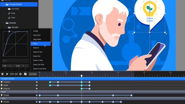 add easing and preview the animation