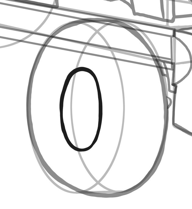 The outer rims require a sharper ellipse but perspective is the reason for this