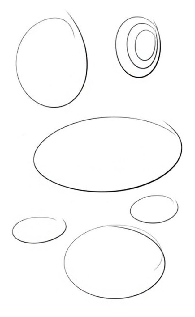 It is good practice to draw ellipses on scrap paper before you start on this section