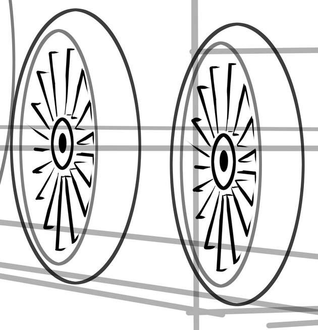 Train wheels have many spokes but they are very sturdy
