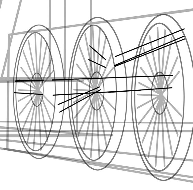 The driving rods are one of the most fascinating parts of a steam engine