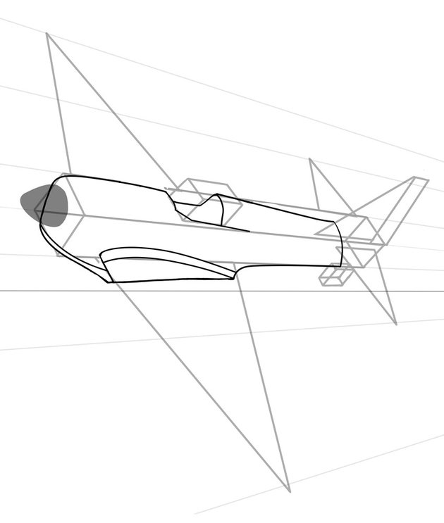 Then comes the body notice there are a lot of smooth lines with this plane