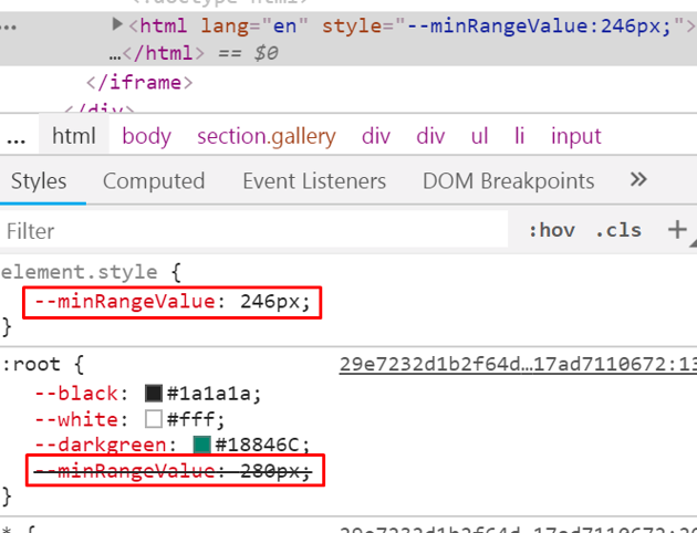 Updating CSS variables through JavaScript