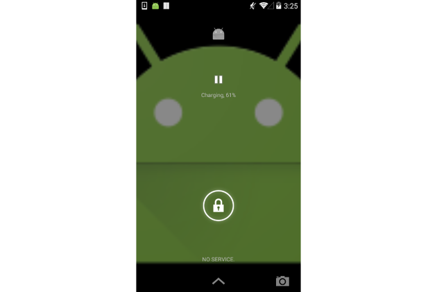 Media lock screen controls on Android Kit Kat