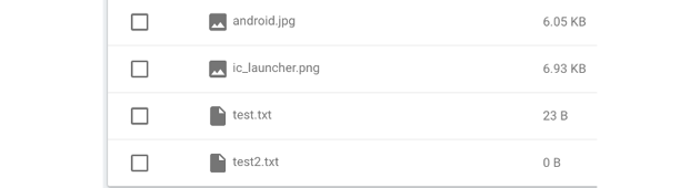 Raw file upload shown in Firebase storage