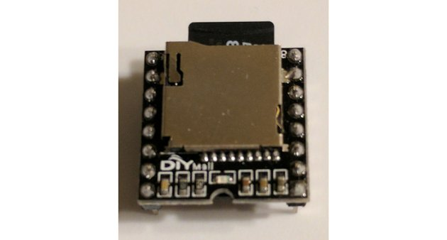 SPI supported SD card reader and MP3 player component