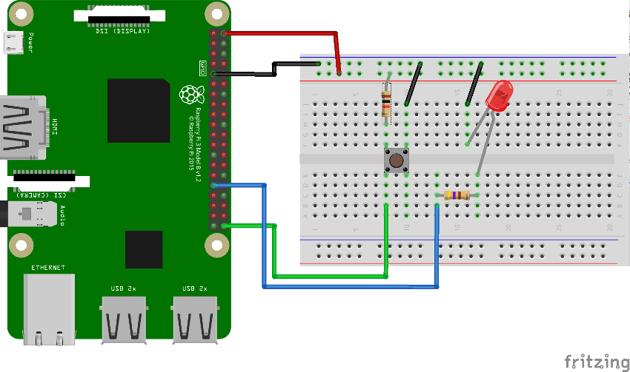 Wiring diagram for Raspberry Pi