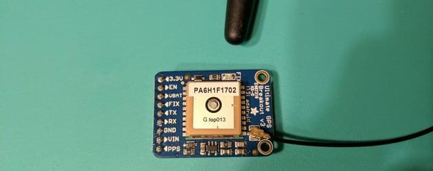 GPS module and Adafruit breakout board