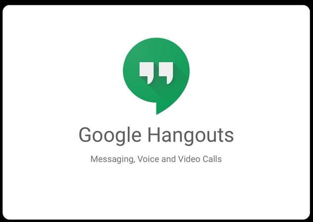 google hangouts splash