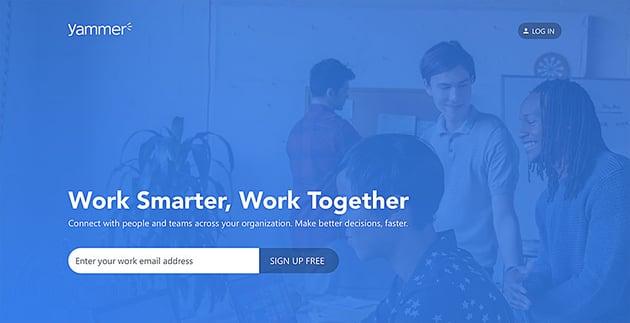 yammer online communication software