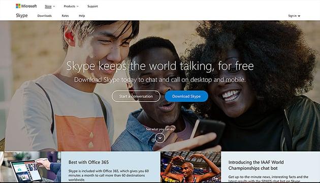skype online communication VOIP app