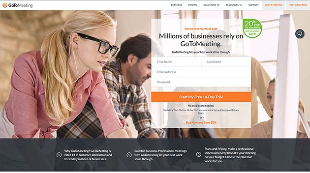 gotmeeting online video conference communication software