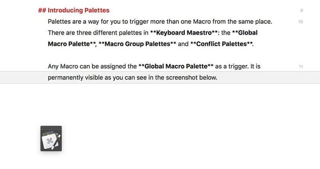 keyboard maestro global macro palette