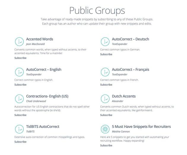public groups