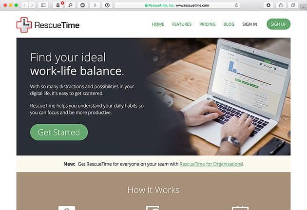 rescuetime time tracker app