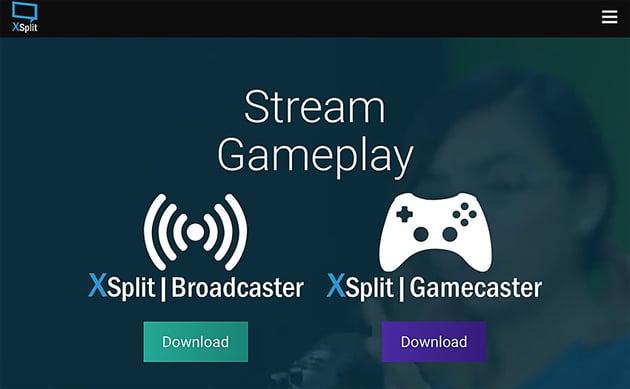 xsplit streaming software