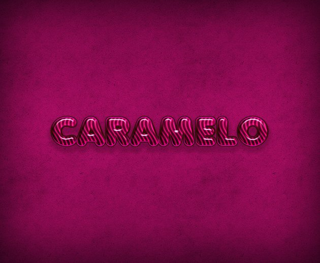 CARAMELO text effect
