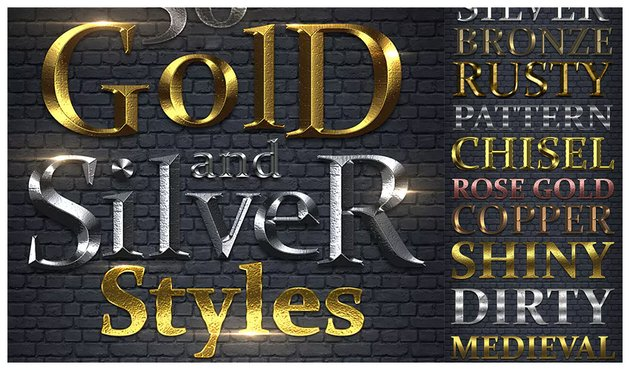 50 Gold  Silver Styles