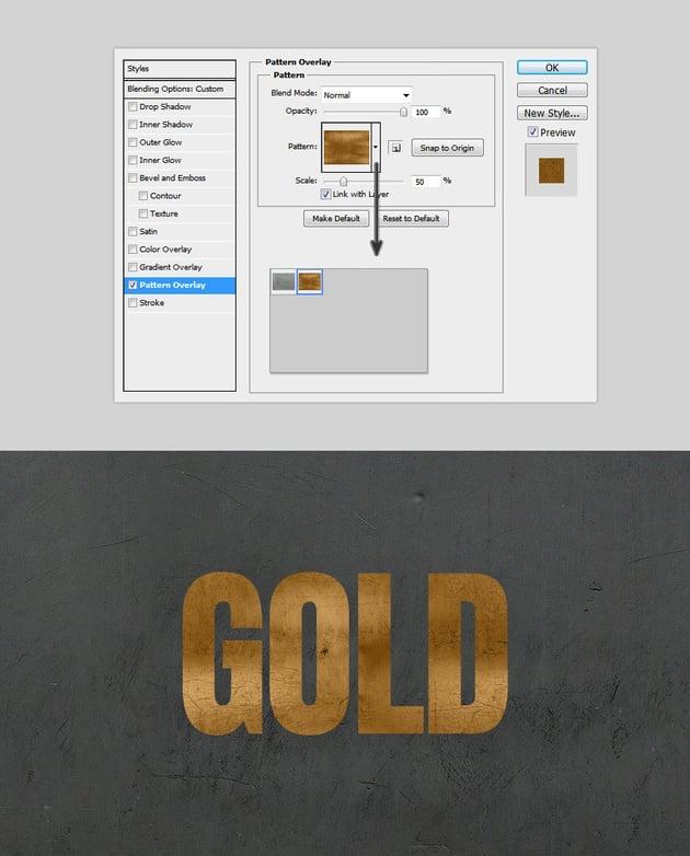 Metallic Pattern Overlay