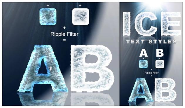 Ice Text Styles